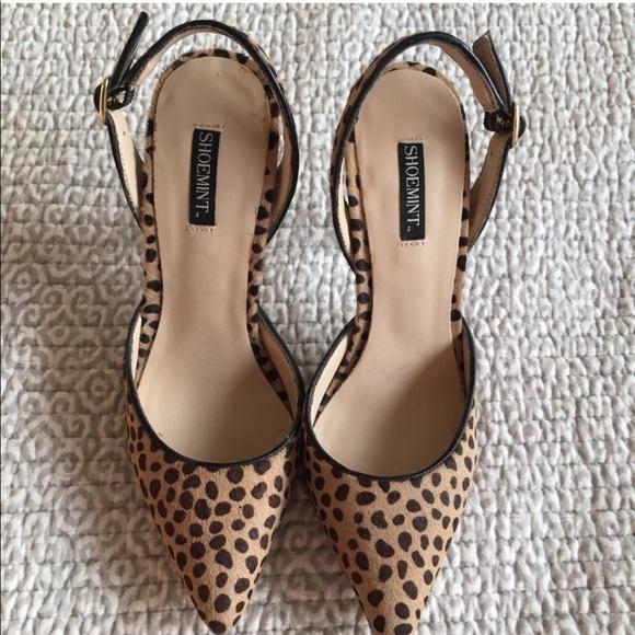 slingback leopard print shoes
